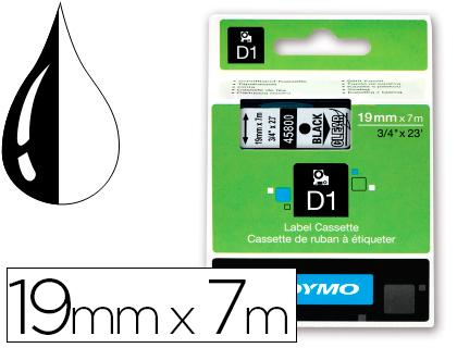 Cinta dymo negro transparente 19mm x 7 mt d1.