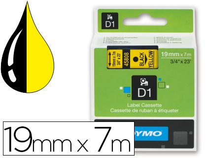 Cinta dymo negro amarillo 9mm x 7 mt d1.