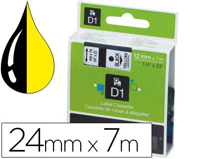 Cinta dymo 1000 negro-amarillo 24 mm x 7 m d1.