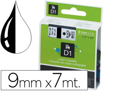 Cinta dymo 1000 9 mm. -negro-blanco d1.