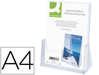 Expositor portafolletos de sobremesa metacrilato A-4