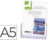 Expositor portafolletos de sobremesa metacrilato A-5