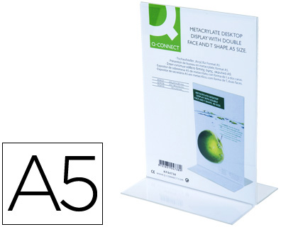 Expositor de sobremesa dos caras metacrilato A-5 (Cuarto)