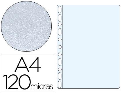 Fundas multitaladro piel de naranja 120 micras tamaño A4 (100 unds)