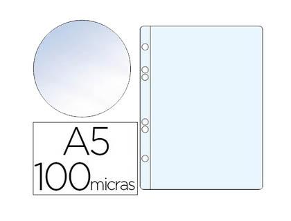 Fundas multitaladro A5 transparente CRISTAL de 100 micras (10 unds)