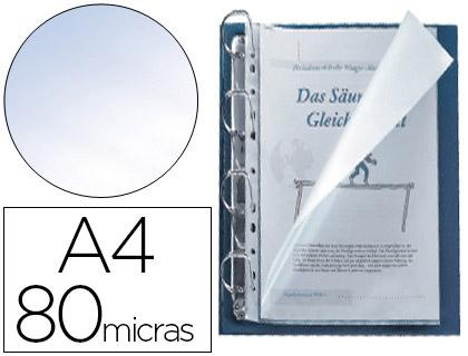 Fundas multitaladro abertura lateral A4 transparente (25 unds)