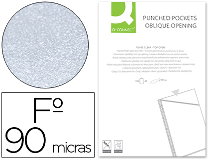 Funda corte oblicuo cristal 4 taladros pvc 90 mc 100 unds