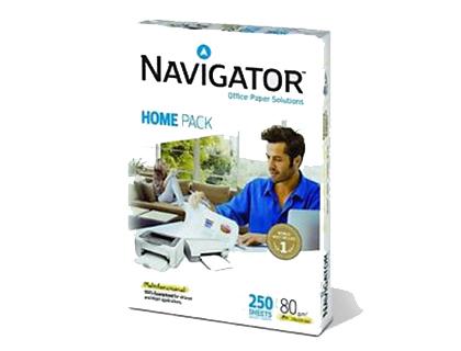Papel A-4 80 grs Navigator Home Caja de 10 paquetes