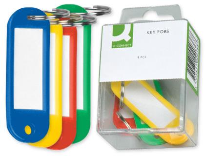 Llavero portaetiquetas caja de 6 unds colores surtidos