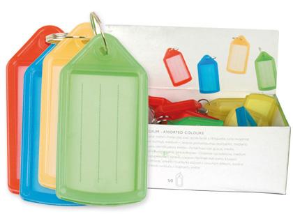 Llaveros portaetiquetas 40 unds colores surtidos