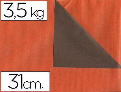 Rollo de papel embalaje kraft naranja y marrón 31 cm x 200 m