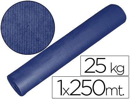 Papel embalaje kraft azul bobina de 1 x 250 m