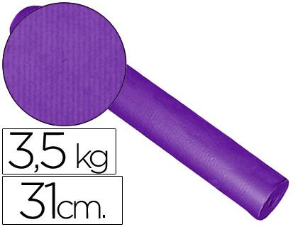 Papel embalaje kraft lila rollo de 31 cm x 200 m