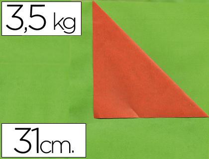 Rollo de papel embalaje kraft naranja y verde 31 cm x 200 m