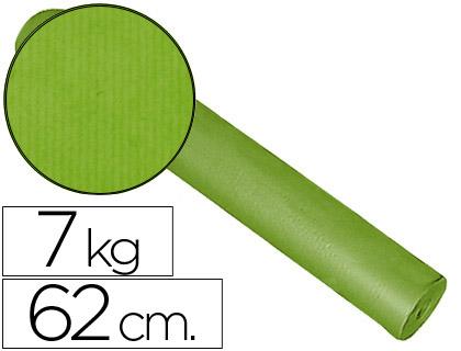 Rollo de papel embalaje kraft pistacho 62 cm x 200 m