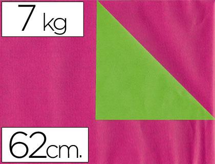 Rollo de papel embalaje kraft rosa y verde 31 cm x 200 m