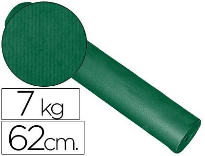Rollo de papel embalaje kraft verde 62 cm x 200 m