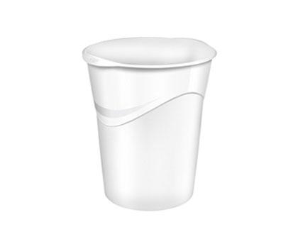 Papelera plastico cep blanco 14 litros.