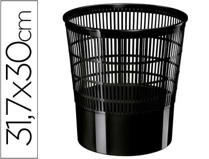 Papelera plastico cep ecoline rejilla negra 16 litros
