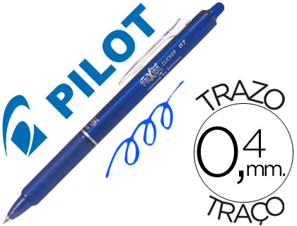 Bolígrafo tinta borrable Pilot Frixion retráctil azul