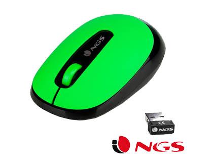 ratón inalambrico verde