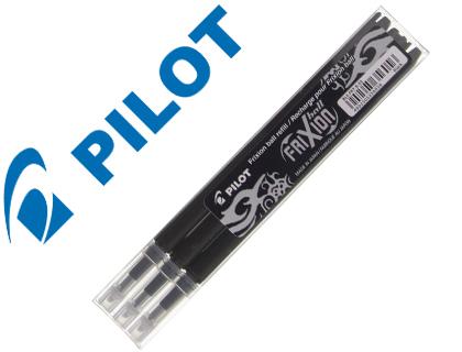 Recambio boligrafo pilot frixion ball negro caja de 3 unidades.