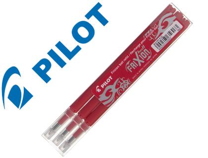 Recambio boligrafo pilot frixion ball rojo caja de 3 unidades.
