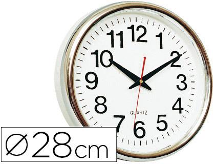 Reloj de pared oficina redondo 28 cm