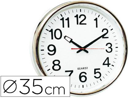 Reloj de pared oficina redondo 35 cm