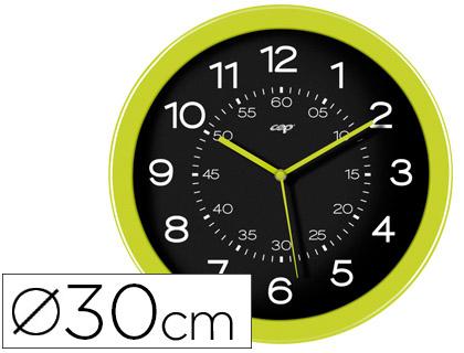 Reloj de pared oficina redondo verde