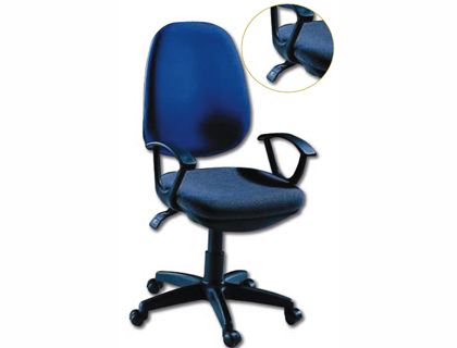 Silla giratoria azul q-connect respaldo alto regulable en altura