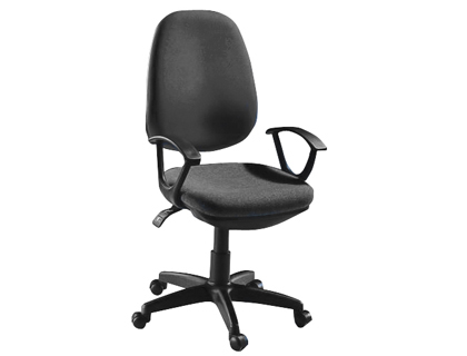 Silla giratoria negra q-connect respaldo alto regulable en altura