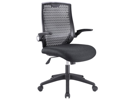 Silla de direccion q-connect con respaldo alto regulable de malla negra