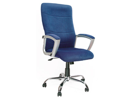 Silla de direccion azul q-connect con respaldo alto regulable en altura alto