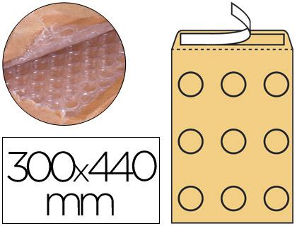 Sobre de burbujas 300 x 440 mm kraft marrón Paqt. de 10
