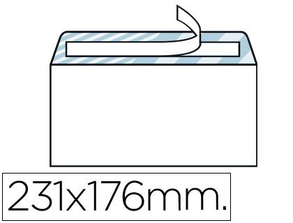 Sobre blanco 176 x 231 mm Cuarto ventana derecha Caja de 500