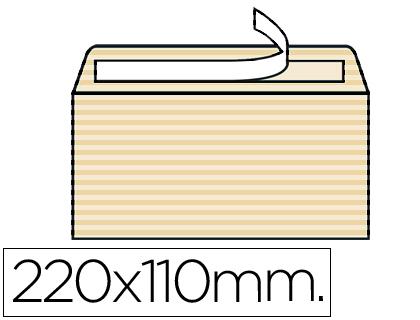 Sobre Verjurado Ahuesado 110 x 220 mm sin ventana Caja de 250