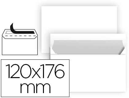 Sobre blanco 120 x 176 mm Normalizado sin ventana paquete de 25