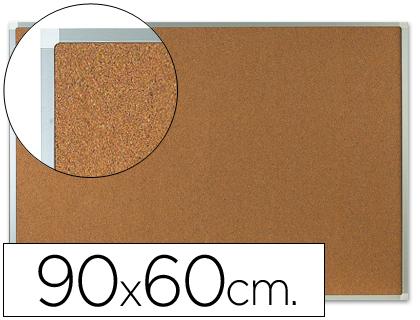 tablero de corcho con marco de aluminio
