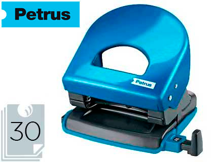 Taladrador petrus 62 wow azul metalizado capacidad 30 hojas.