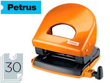 Taladrador petrus 62 wow naranja metalizado capacidad 30 hojas.
