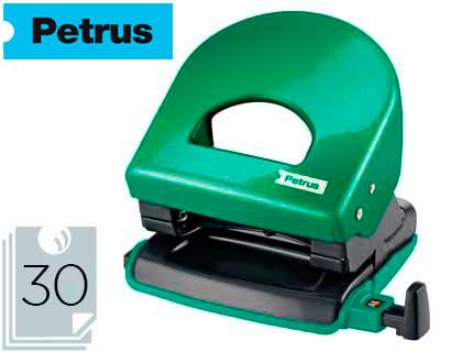Taladrador petrus 62 wow verde metalizado capacidad 30 hojas.