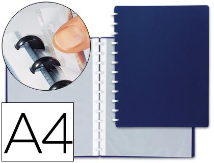 Carpeta con 20 fundas intercambiables azul