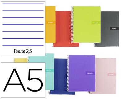 Cuaderno espiral A-5 pauta 2,5 mm.