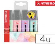 Rotulador fluorescente Stabilo Boss pastel estuche de 4 unds.