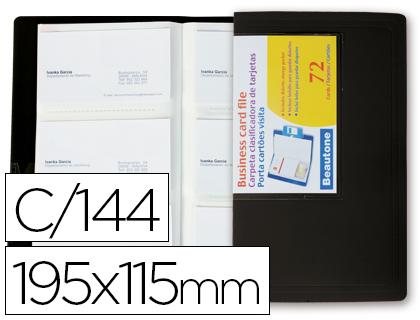 Tarjetero para 144 tarjetas