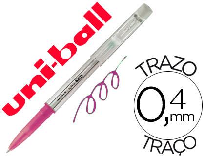 Bolígrafo tinta borrable Mitsubishi Pencil rosa12 unds.