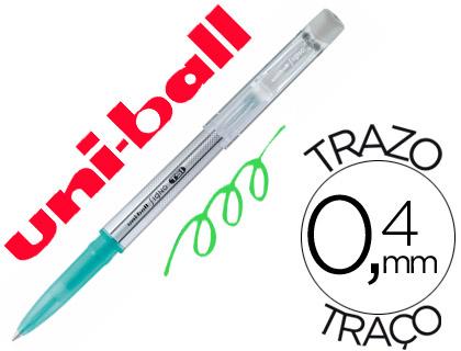 Bolígrafo tinta borrable Mitsubishi Pencil verde 12 unds.