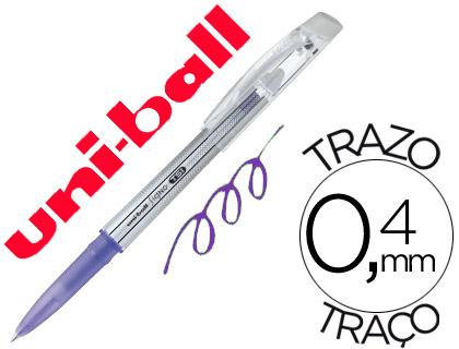 Bolígrafo tinta borrable Mitsubishi Pencil violeta 12 unds.