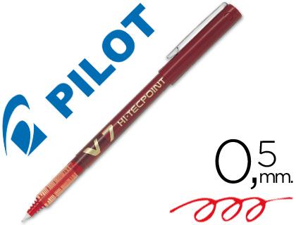 Bolígrafo Pilot V-7 tinta líquida rojo